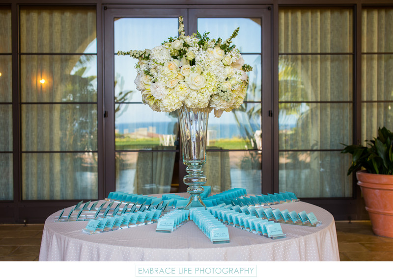 Terranea Resort Wedding Reception Escort Card Table