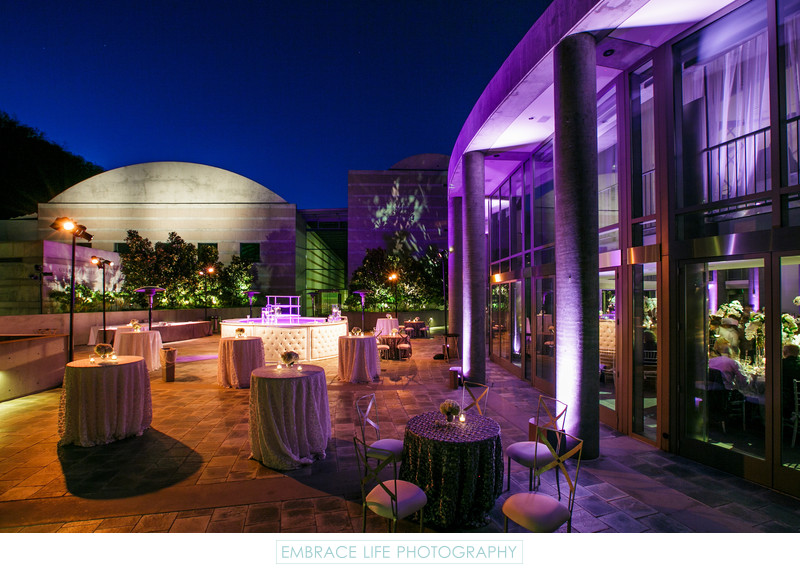 Skirball Cultural Center Wedding Reception Lighting