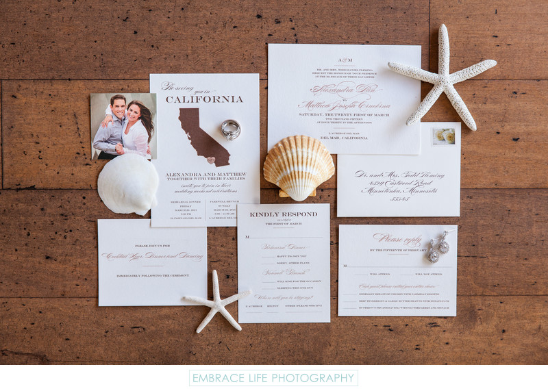 L'Auberge Del Mar Wedding Photographer - Stationery