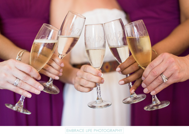 Riviera Country Club Wedding, Bridesmaids Toast
