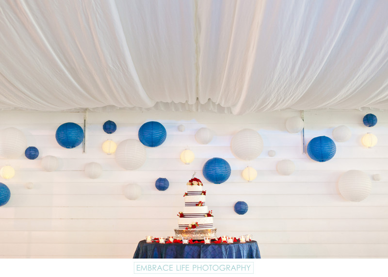 Marine Wedding in San Diego - Patriotic Cake Display