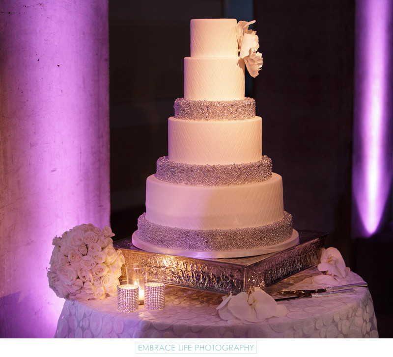 Skirball Center Wedding Reception - Cake Table