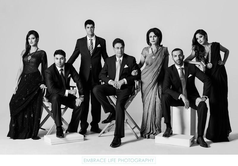 los angeles studio family portrait editorial los angeles wedding