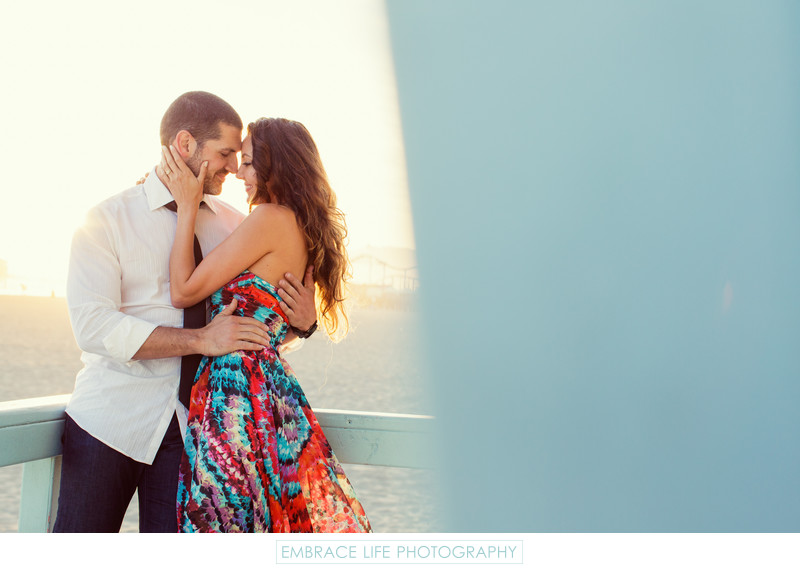 Santa Monica Engagement Portrait on the Beach