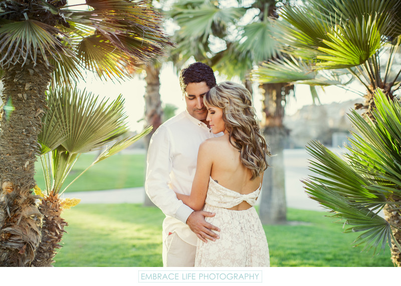 Intimate Corona Del Mar Engagement Portrait