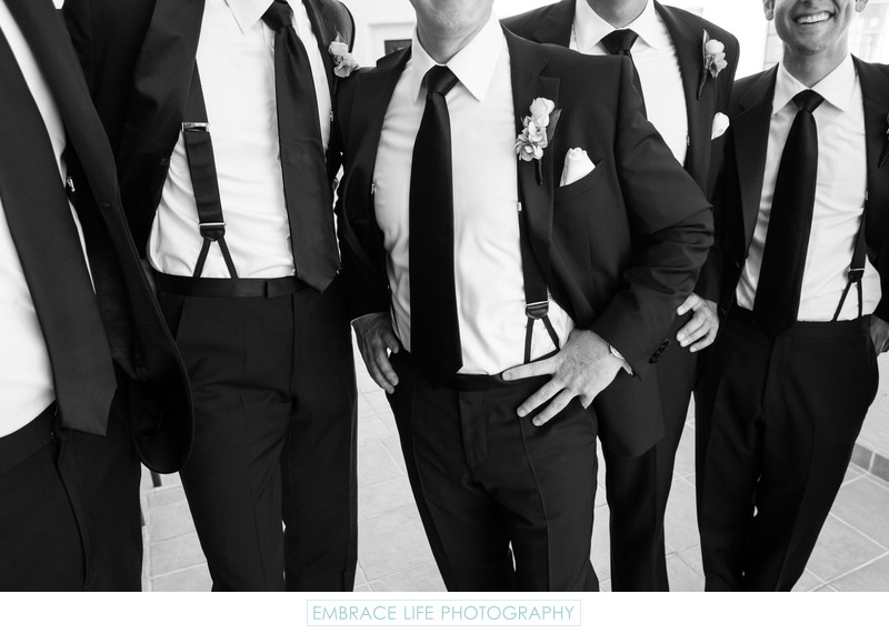 Groom and Groomsmen Casual Pose