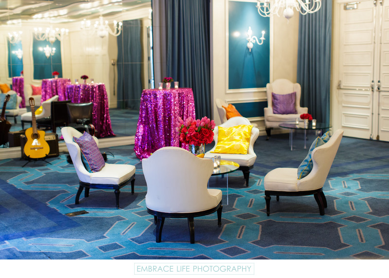 Modern Colorful Lounge at Viceroy Santa Monica