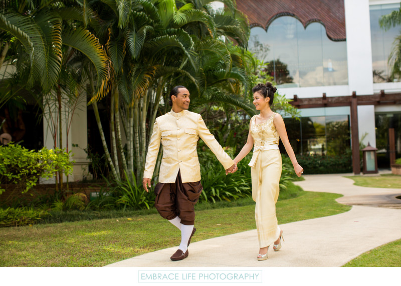 Shangri-La Hotel Garden Wedding Portrait