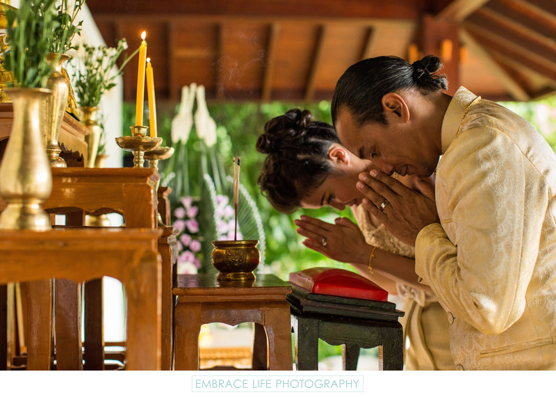 Thai Wedding Ceremony Prayer