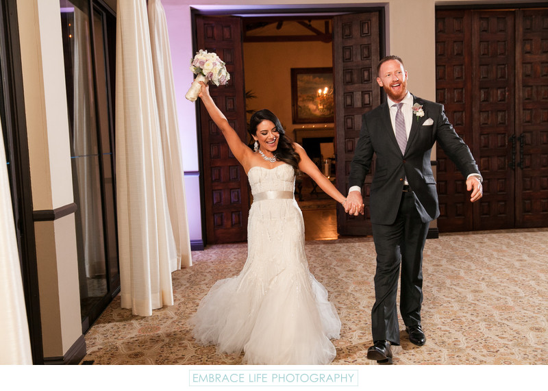 Cheerful Wedding Reception Grand Entrance