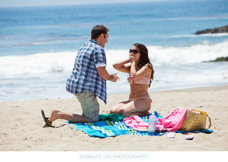 Malibu Beach Proposal Reaction