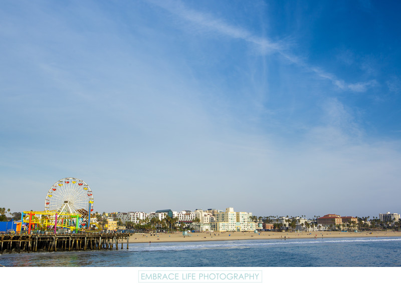 Santa Monica Ferris Wheel and Coastline