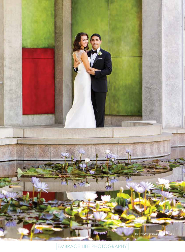 Skirball Center Wedding - Bride & Groom Portrait