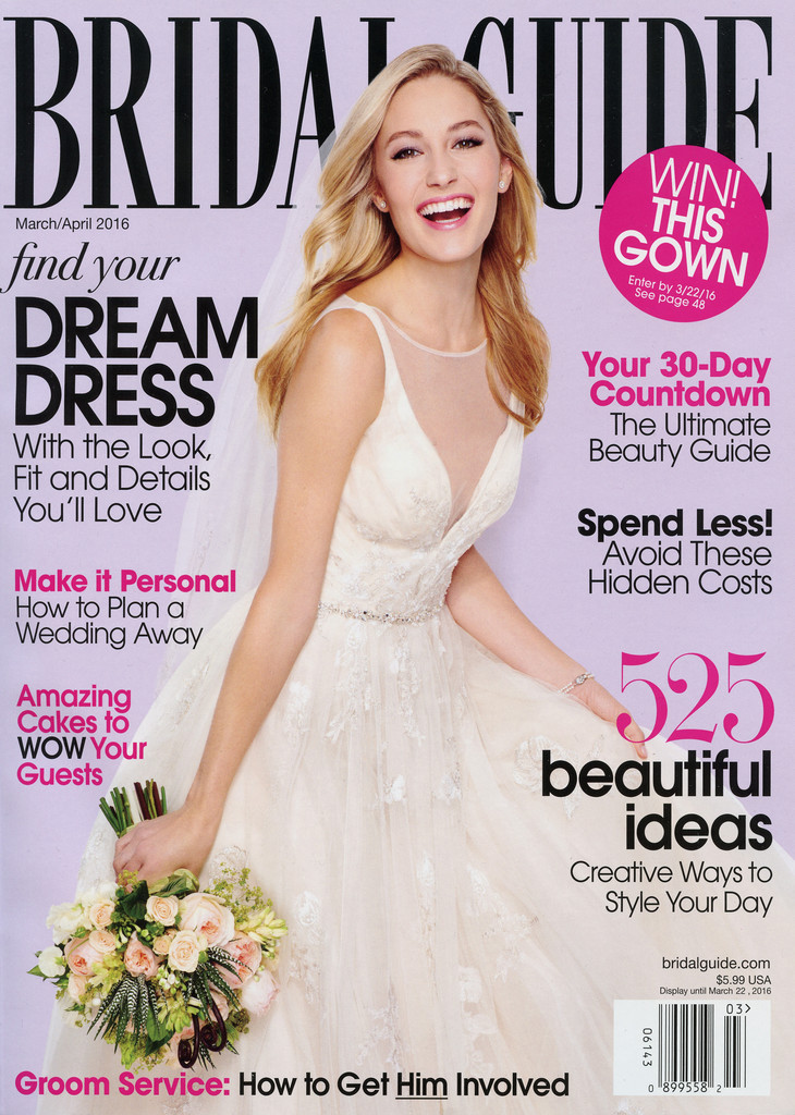 Bridal Guide Magazine Cover - March/April 2016
