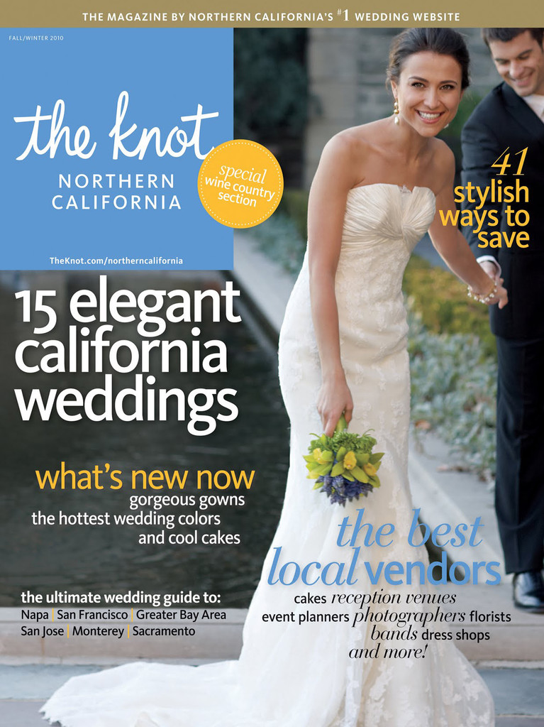 Napa Valley Wedding - The Knot NorCal Magazine Cover