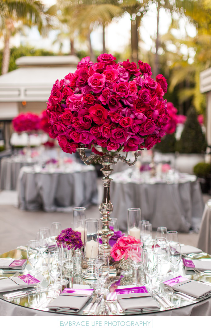 Glamorous Wedding Reception at The Viceroy Santa Monica