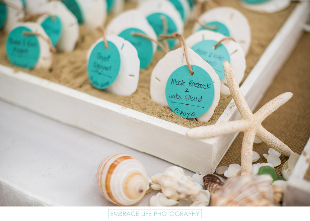 Beach Themed Wedding Reception at Heartstone Ranch