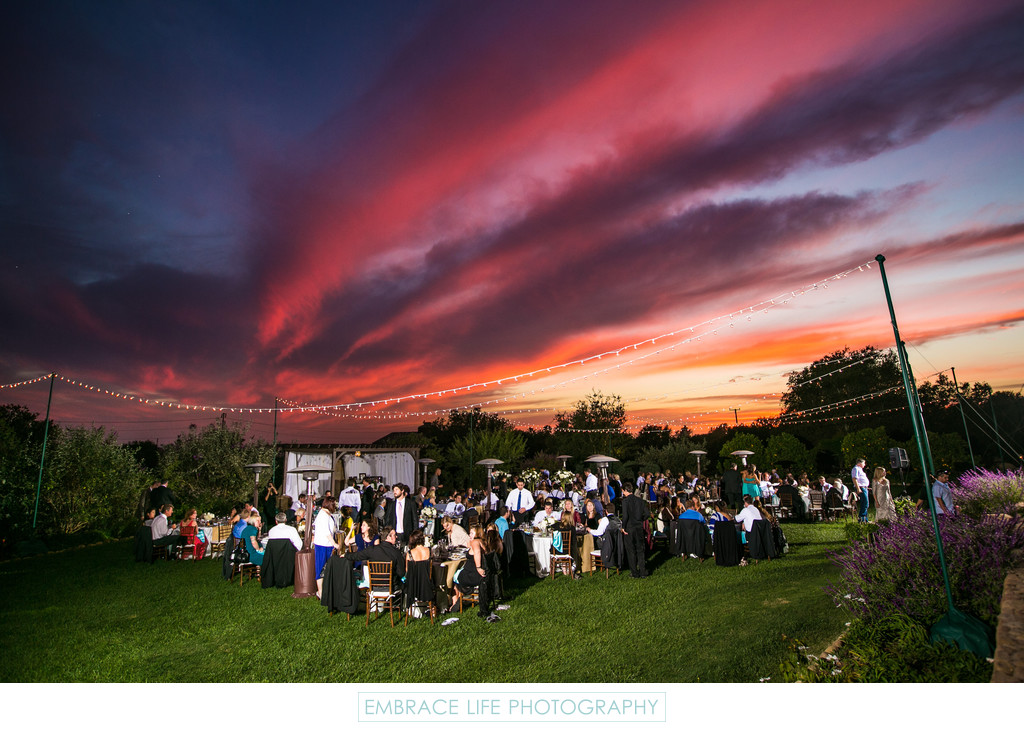 Sunset Over HeartStone Ranch Wedding Santa Barbara