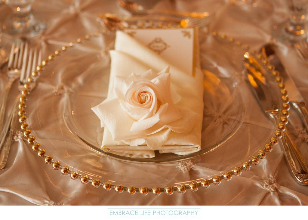 Elegant Crystal and Gold Placesetting