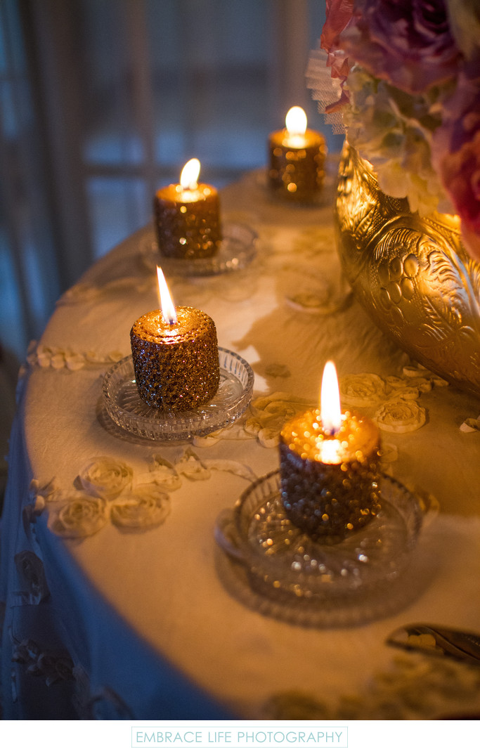 Gold Jeweled Candles