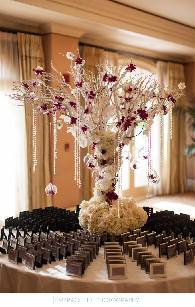 Place Card Table, Langham Huntington Wedding Pasadena
