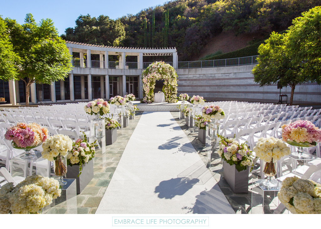Skirball Culutral Center Wedding - Taper Courtyard