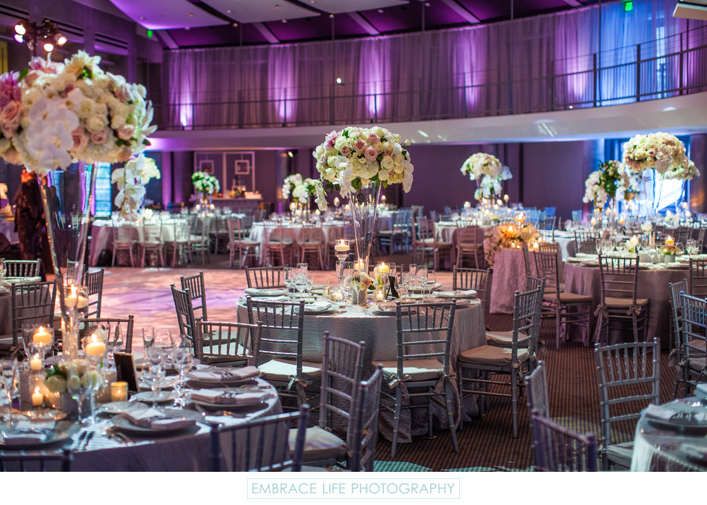 Skirball Center Wedding Reception in Cotsen Auditorium