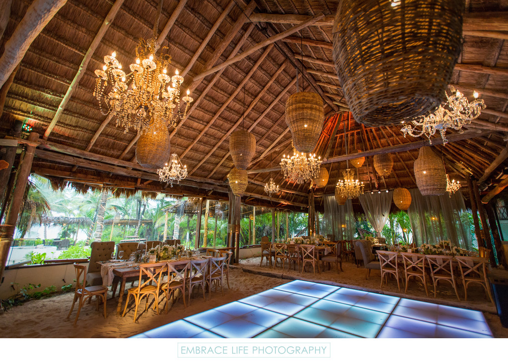 Tulum, Mexico Destination Wedding, Palapa Reception