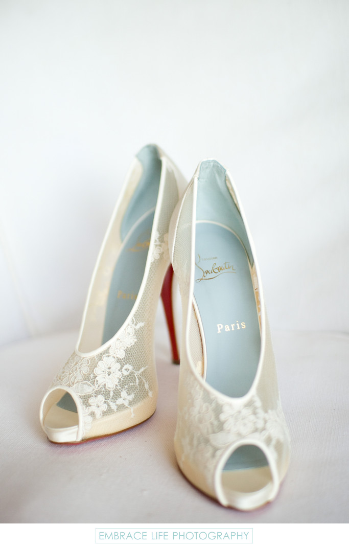 Lace Christian Louboutin Wedding Shoes
