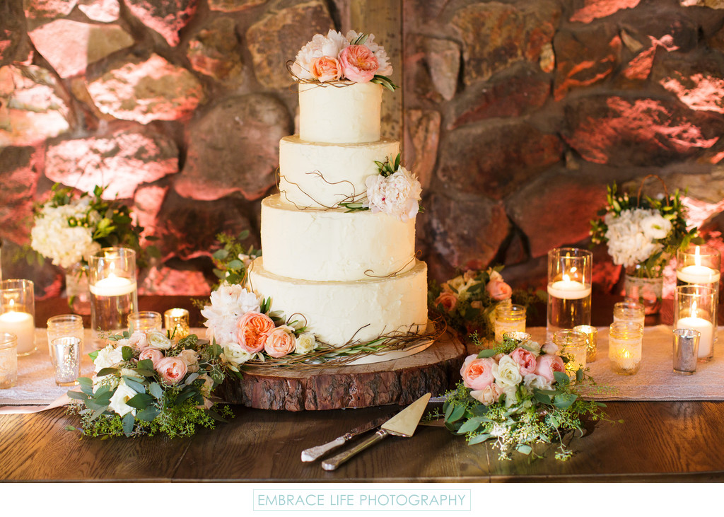 Rustic Wedding Cake Display Wedding Details Photography