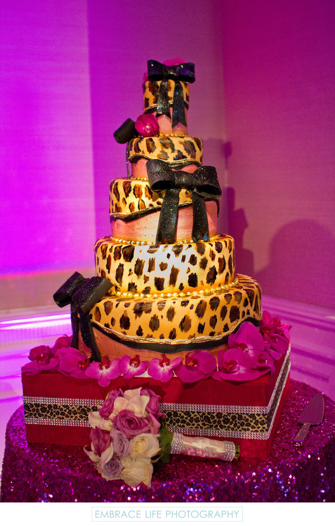 Leopard Print Wedding Cake