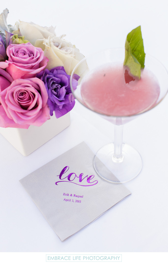 Specialty Cocktail and Custom Designed Napkin