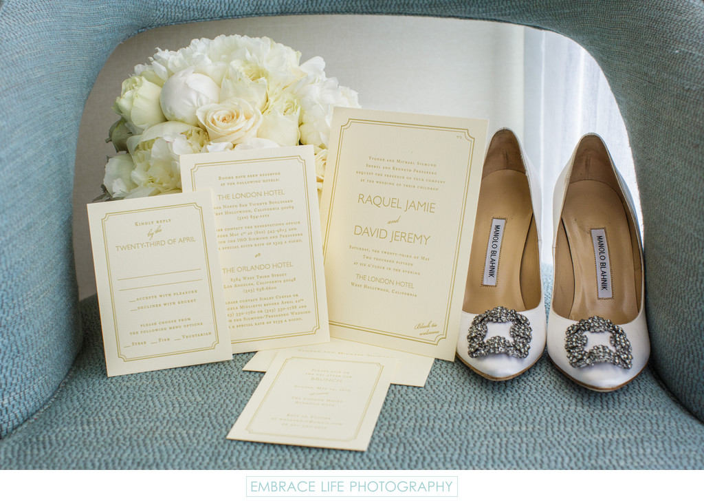 London West Hollywood Wedding Invitation