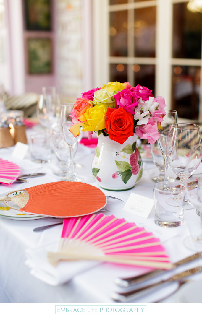Santa Monica Event Photographer, Rehearsal Dinner Decor