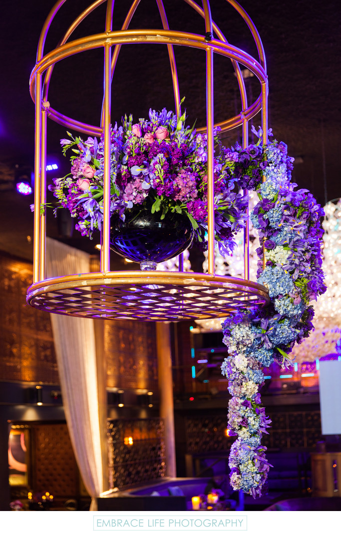 Greystone Manor Bat Mitzvah Birdcage Flower Arrangement
