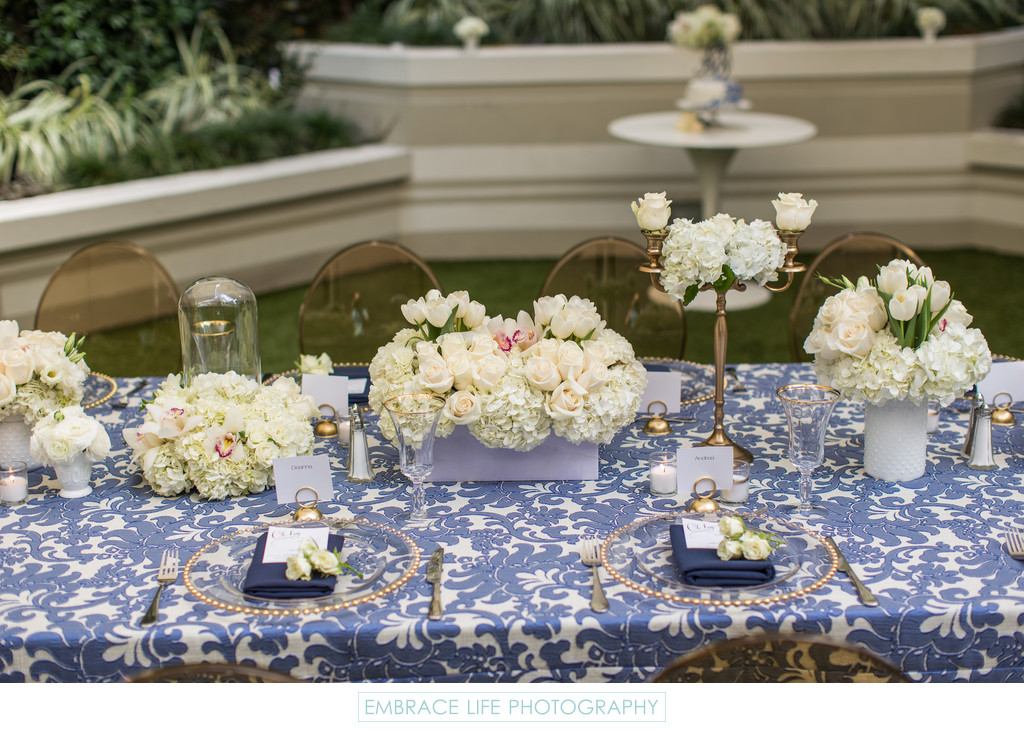 Santa Monica Event, Elegant Table Decor and Design