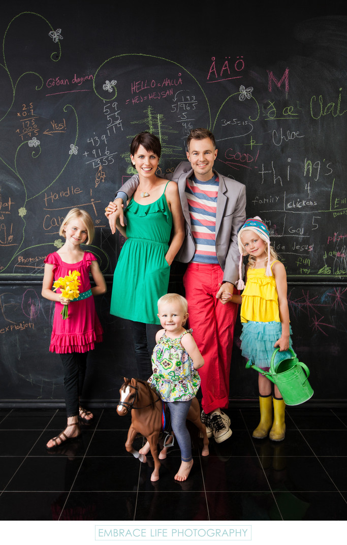 Creative Los Angeles Editorial Family Portrait