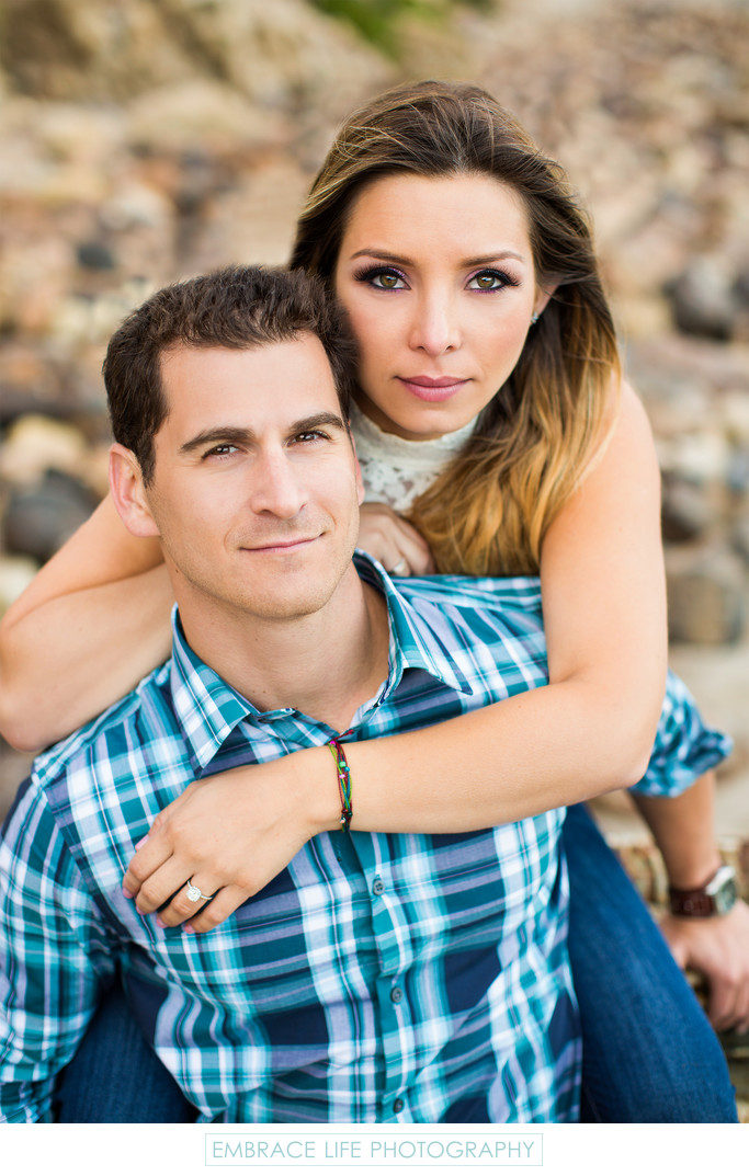 Point Dume Engagement Photograph in Malibu, California