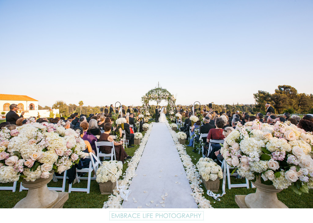 Wedding Ceremony at Riviera Country Club