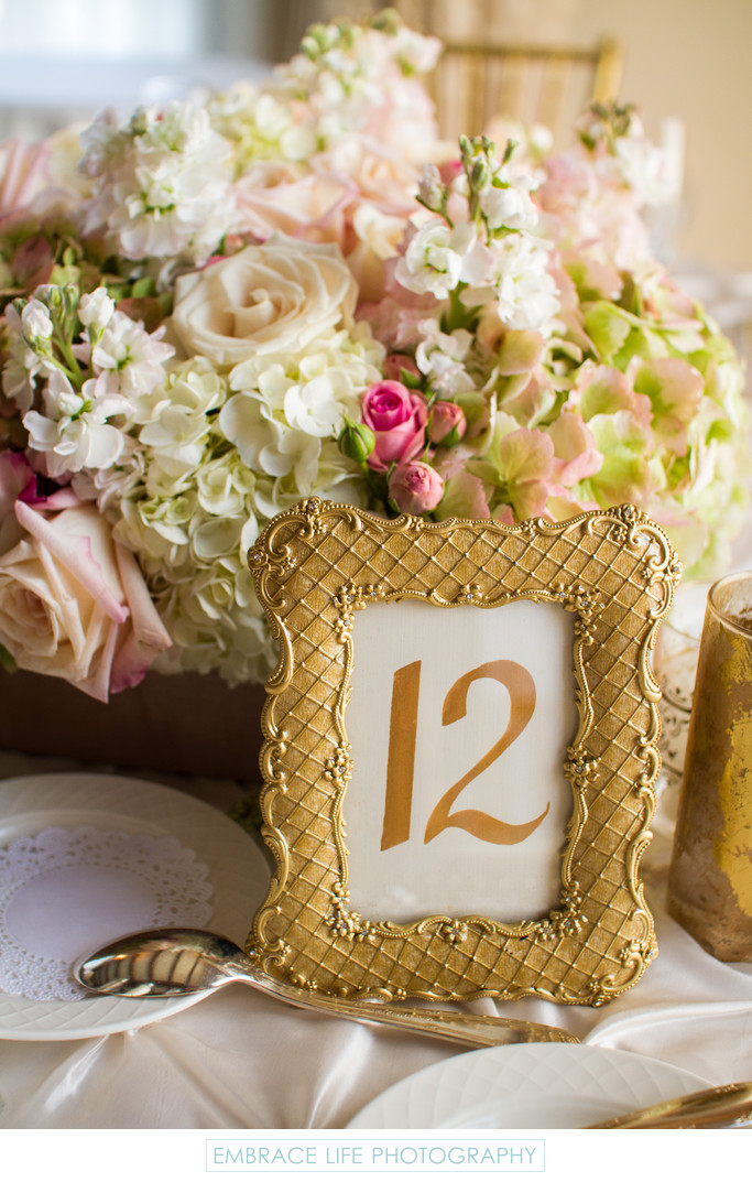 Gold Framed Table Number