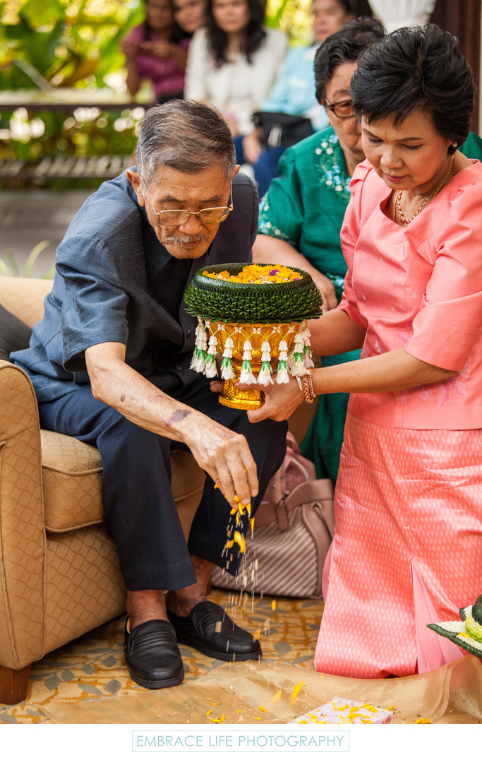 Thai Engagement Dowry Ceremony