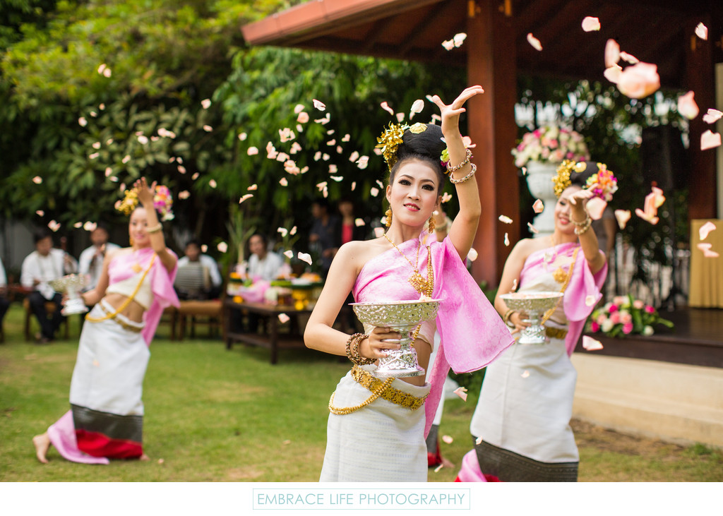 Thailand Lanna Folk Dance at Wedding Ceremony