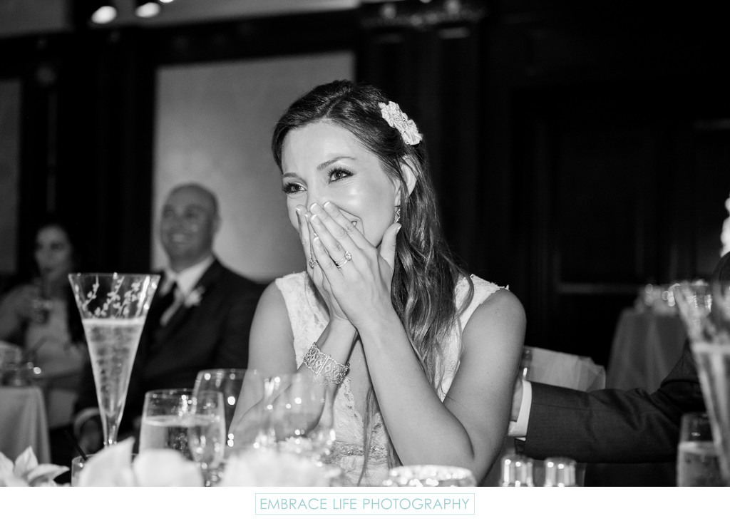Bride Reacts to Her Father's Toast