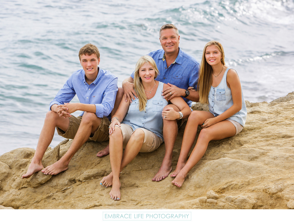 Malibu Family Portrait on the Beach