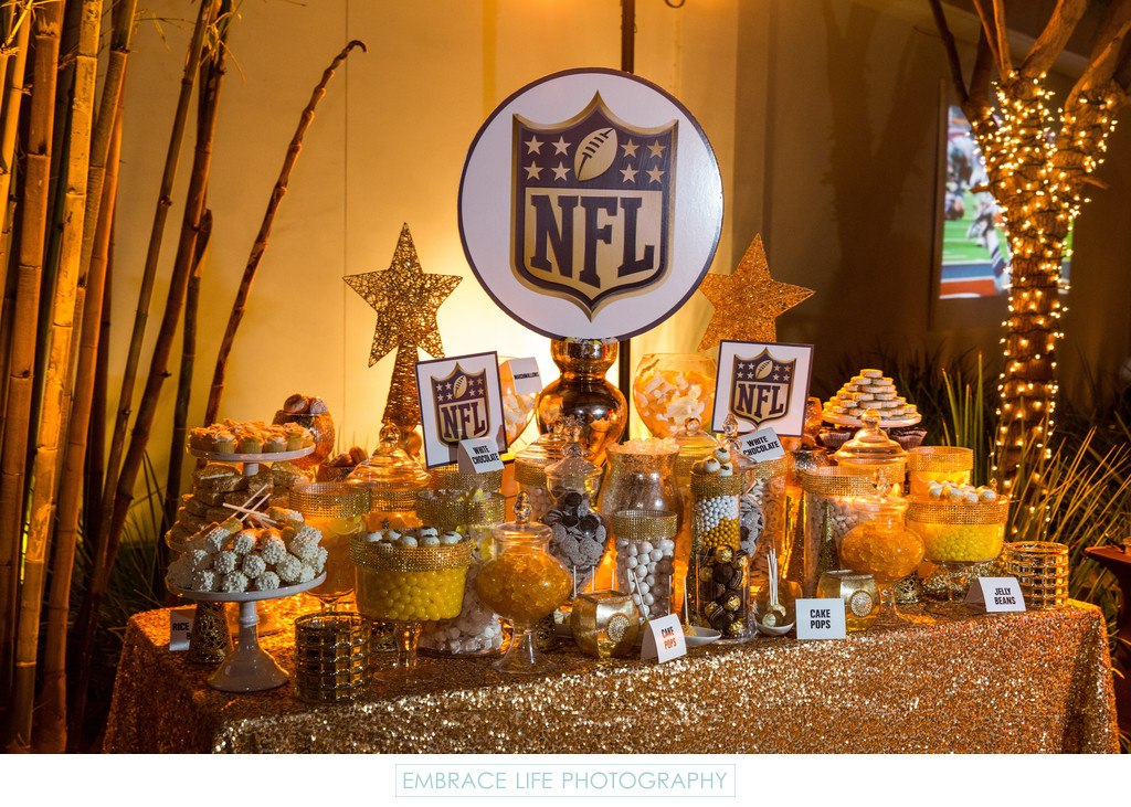 Incredible Gold Candy Table Display