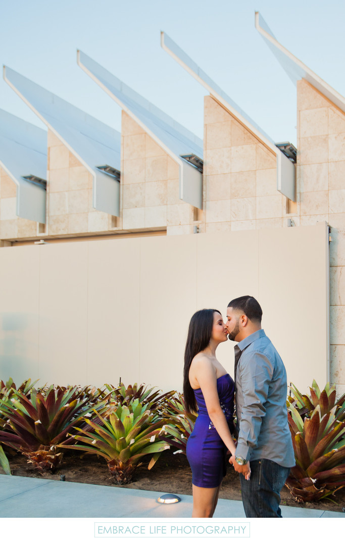 LACMA Engagment Portrait Before Surprise Proposal