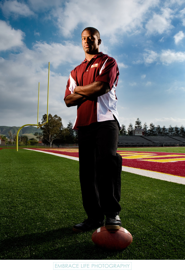 Simi Valley Football Player Portrait