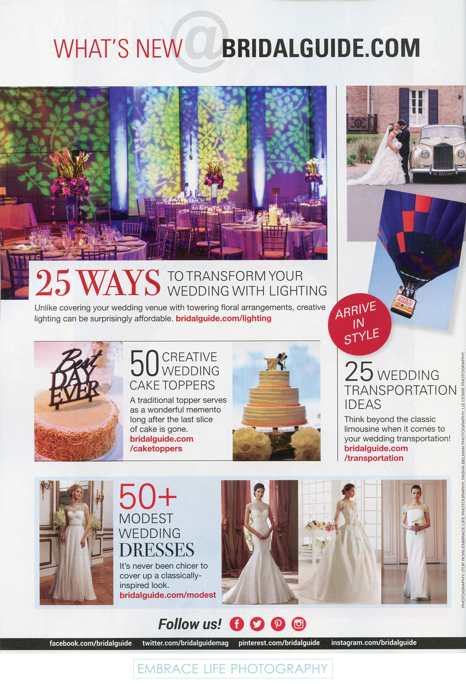Bridal Guide Magazine - Wedding Lighting