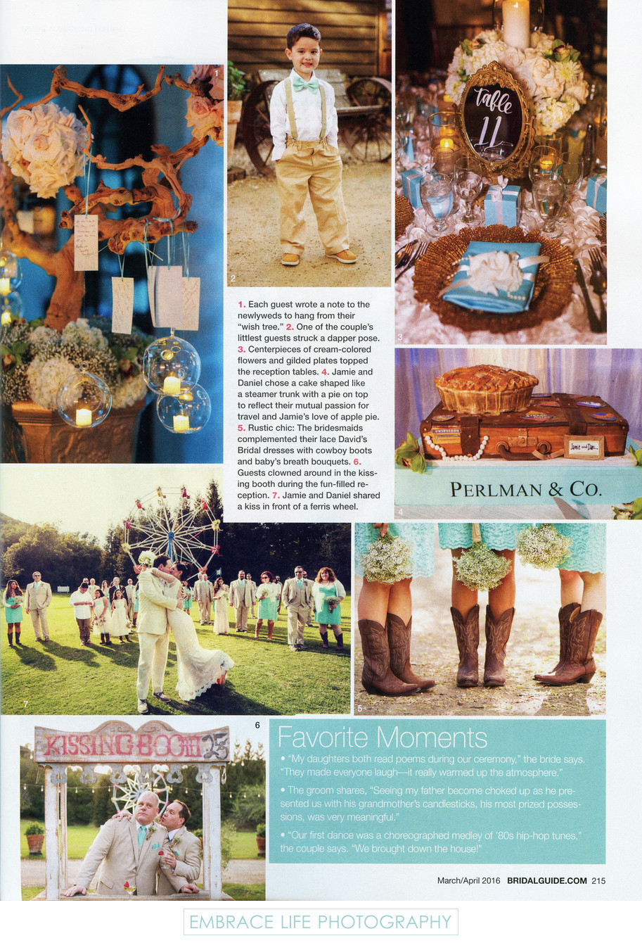 Tiffany Blue and Rustic Wedding Details - Bridal Guide