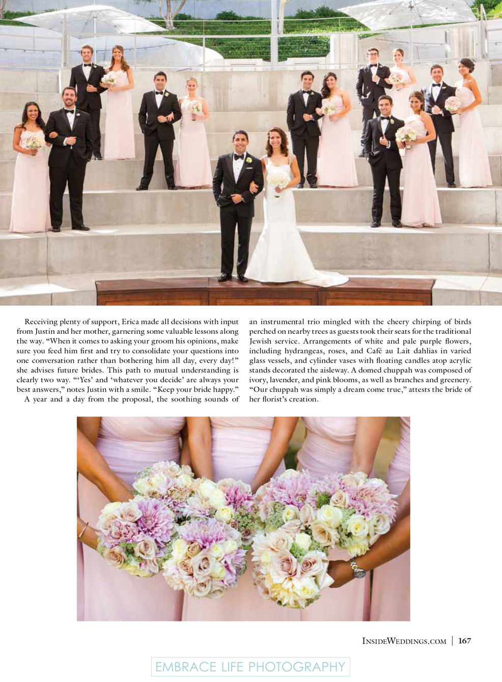 Skirball Center Wedding - Bridesmaids and Groomsmen